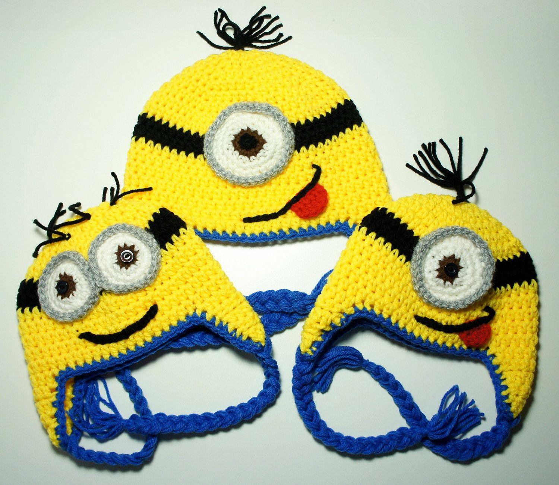 Minion Hat, Despicable Me, Crochet Minion Hat, Crochet Baby Hat ...