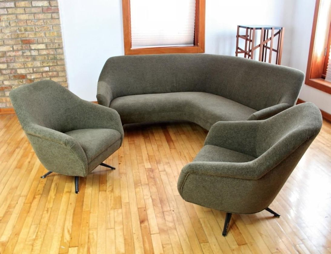 55 Adorable Curved Couches Ideas For Living Room   Sofas ...