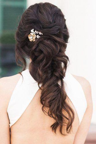 half up half down wedding hairstyles ideas half up modish ...
