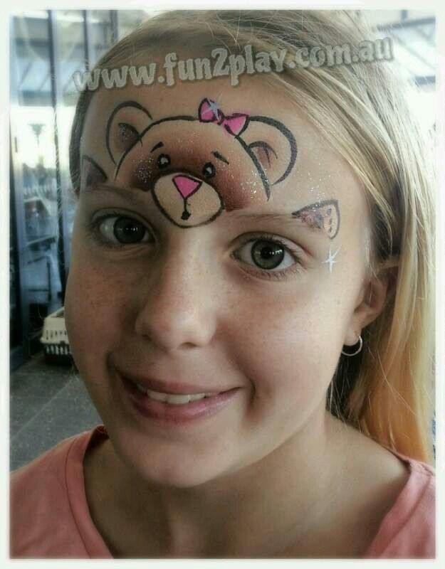 Sweet Teddy Einfache Gesichtsmalerei Kinderschminken Kinder Schminken