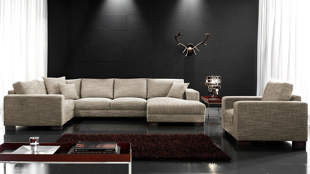 wohnlandschaft livigno big sofa wohnzimmer living. Black Bedroom Furniture Sets. Home Design Ideas