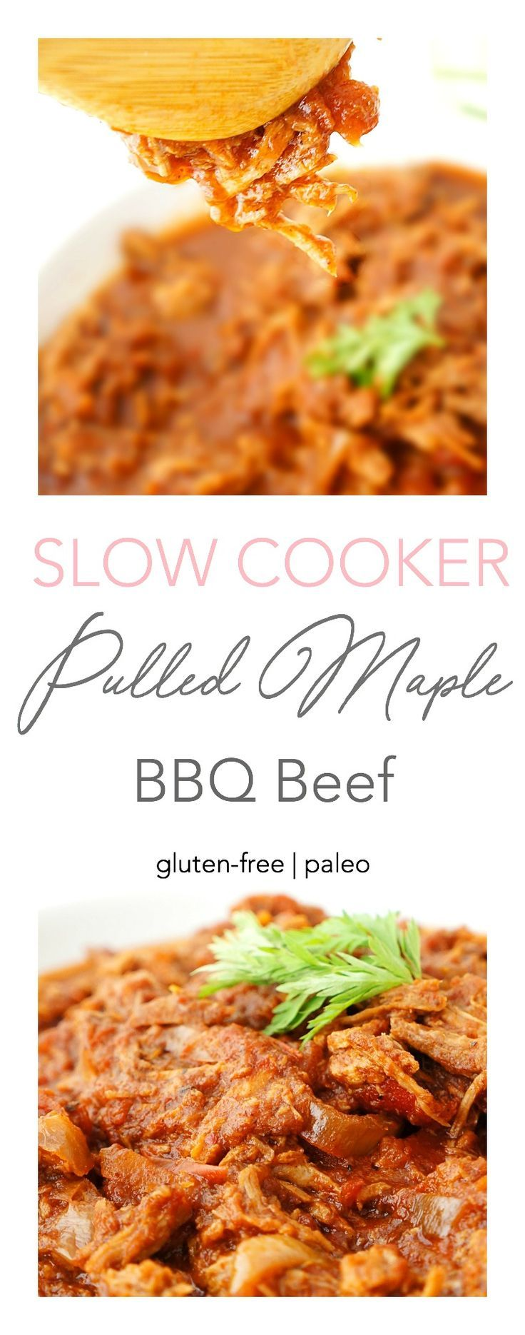 Pulled Maple BBQ Beef {Freezer Meal} | Haute & Healthy Living