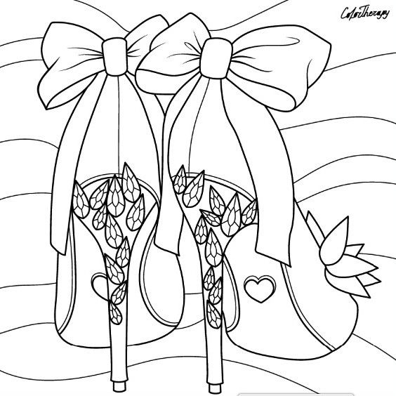 Pin by Coloring Pages for Adults on Shoes Coloring Pages