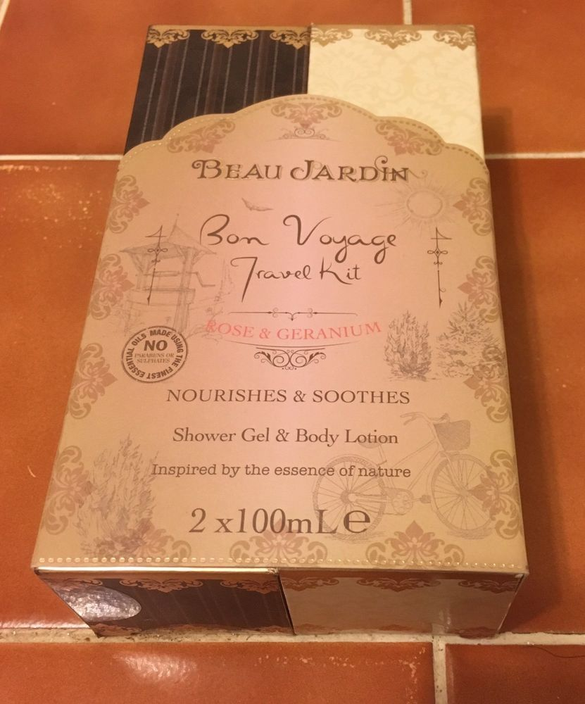 Beau Jardin Rose and Geranium Bon Voyage Travel Kit | eBay | Ebay ...