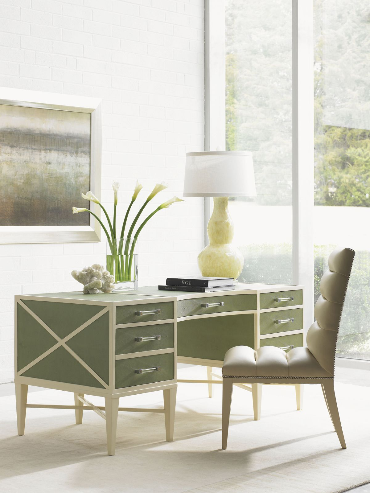 Sligh Studio Designs Sea Mist Writing Desk, available