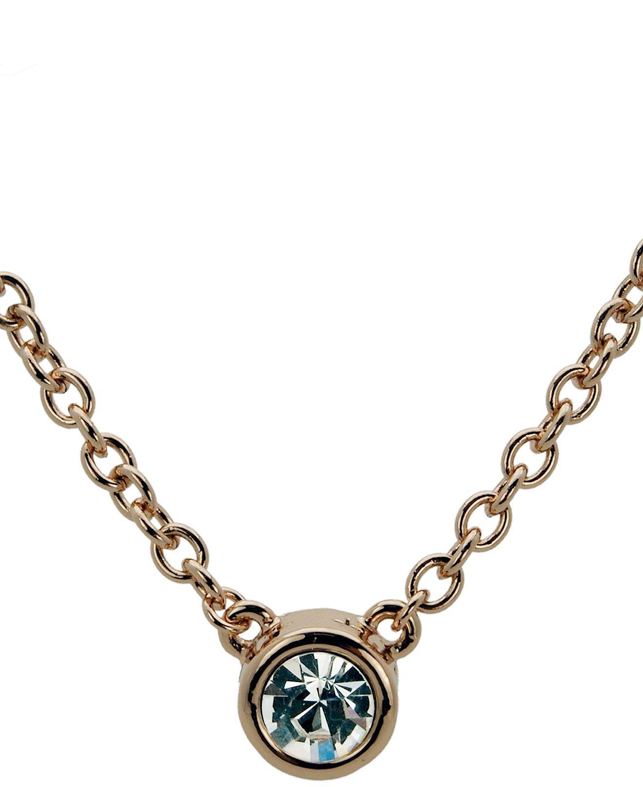 T tahari necklace bezel set crystal pendant fashion necklaces