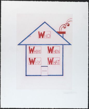 Louise Bourgeois. When, What, Where, Why? (Dalai Lama Benefit), third version, state II, variant. 1999