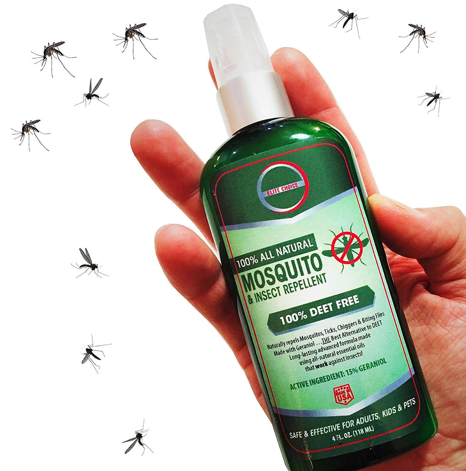 Best Natural Mosquito Repellent Spray Deet Free Travel Insect