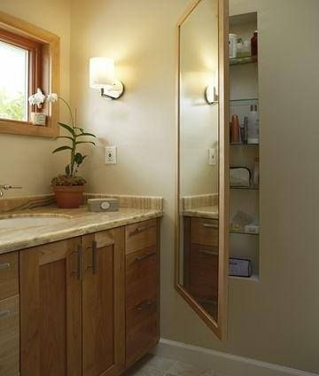 Hidden Medicine Cabinet Behind Mirror With Images Creative