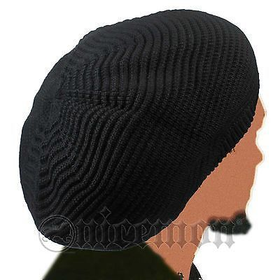 af73b718141 Rasta Dread Dreadlocks Tams Hat Beret Hippie Cap Reggae Marley Jamaica M L  Fit