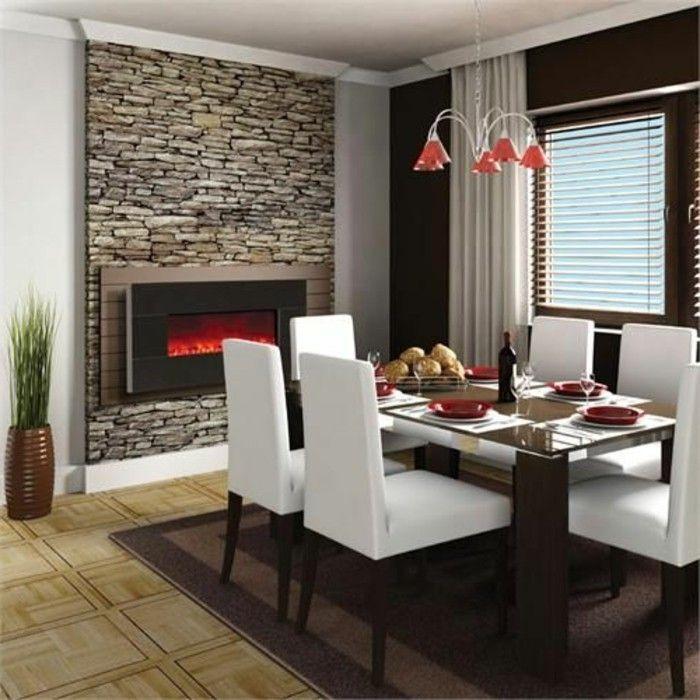 Quelles pierres de parement choisir pour votre pi ce salon pinterest d co maison - Photo d interieur de maison design ...