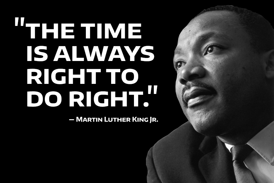 """The time is always right do do what is right."""" - Martin Luther King Jr 