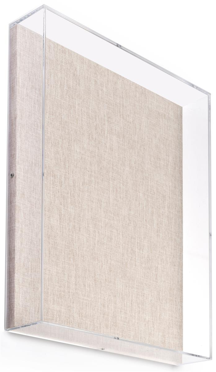 16 X 20 Wall Mounted Exhibit Case W Linen Backing Acrylic Vitrine Tan Frames On Wall Wall Display Case Art Stand