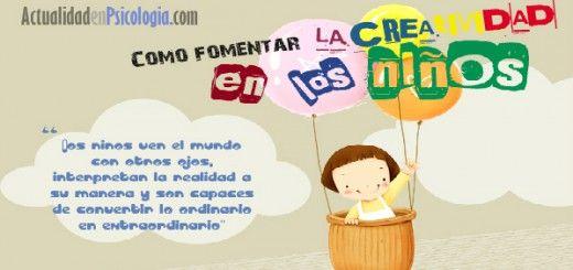 Como fomentar la creatividad en los niños Portada