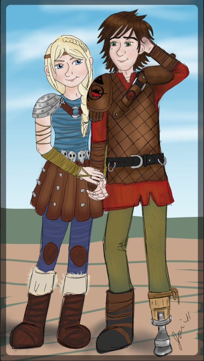 Hiccup and Astrid. :)