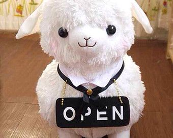 Alpaca Plush / Alpacasso Amuse Soft doll /Cushion Alpacasso/ Arpakasso/ Llama -Maid Cafe- Kid's Alpacaffe