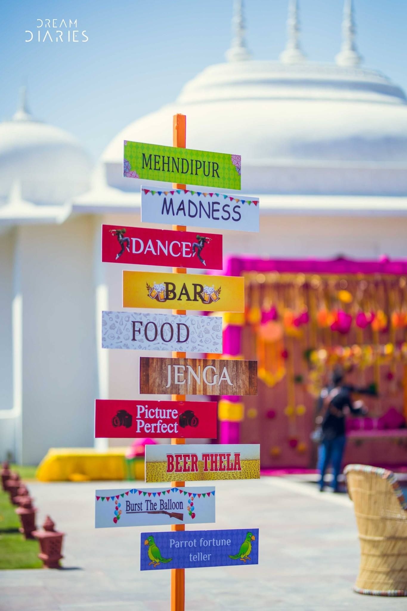 Free fun diy mehndi theme with fab indian kitsch mehndi decor ideas mehendi decor inspiration sign boards mela theme mehendi function quirky mehendi decor junglespirit Image collections