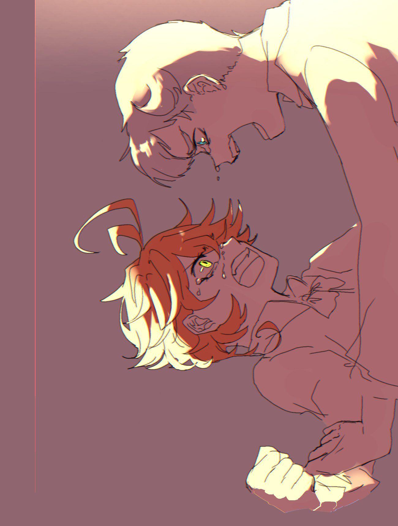 Norman x Emma Neverland art, Anime, Neverland