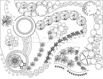 Garden Landscape Plan Vector Illustration C Jelena Zaric Jelen80 1638638 Landscape Architecture Design Landscape Plan Landscape Design Drawings