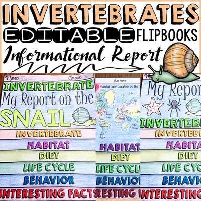 TeachToTell from ANIMAL REPORT INVERTEBRATES INFORMATIONAL REPORTS