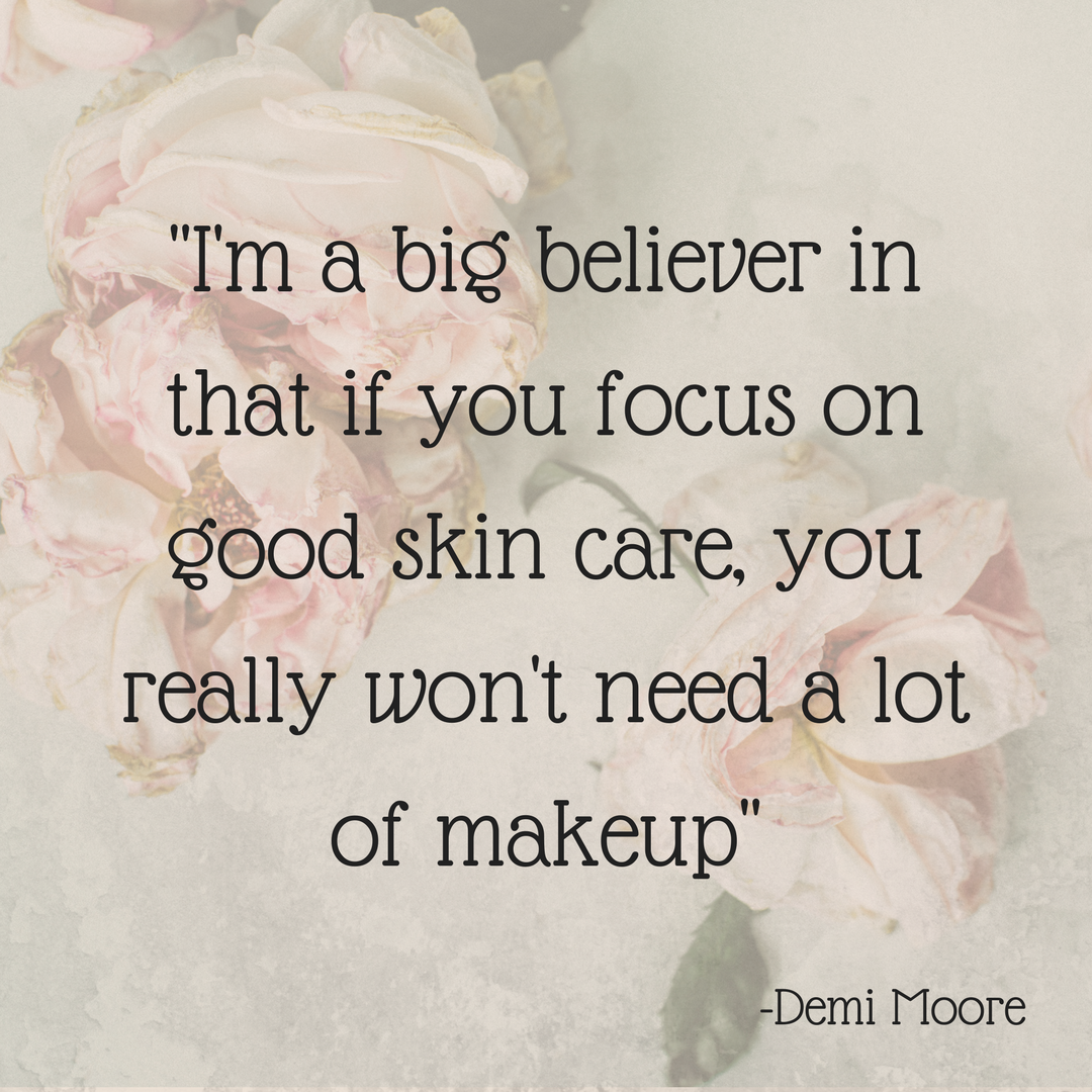 Beauty Skin Care Quotes: Skin Care Quote By Demi Moore. #MarlenhaBeauty