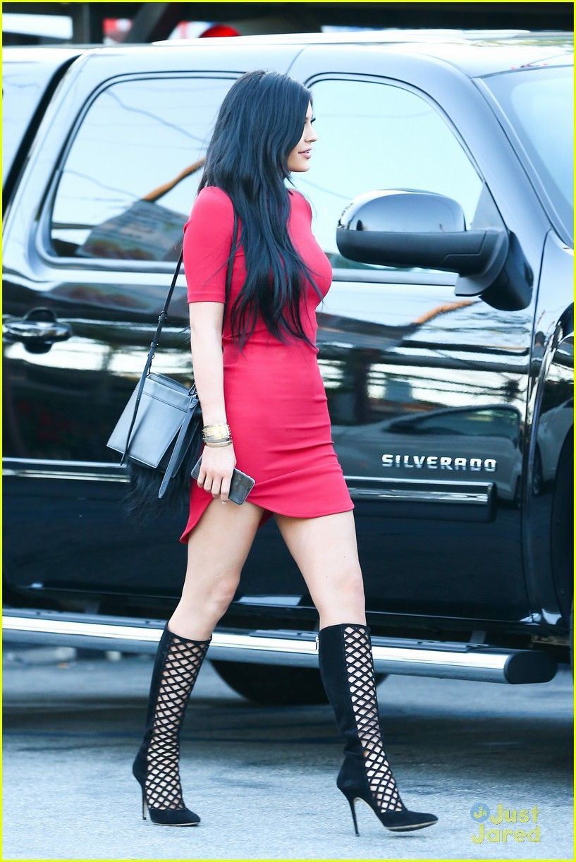 Kylie Jenner Is Red Hot in Super Tight Dress