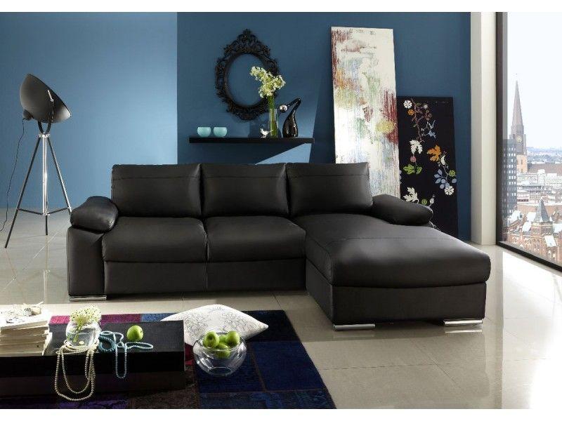 Lovely #Sofas #negro #chaiselongue #Conforama