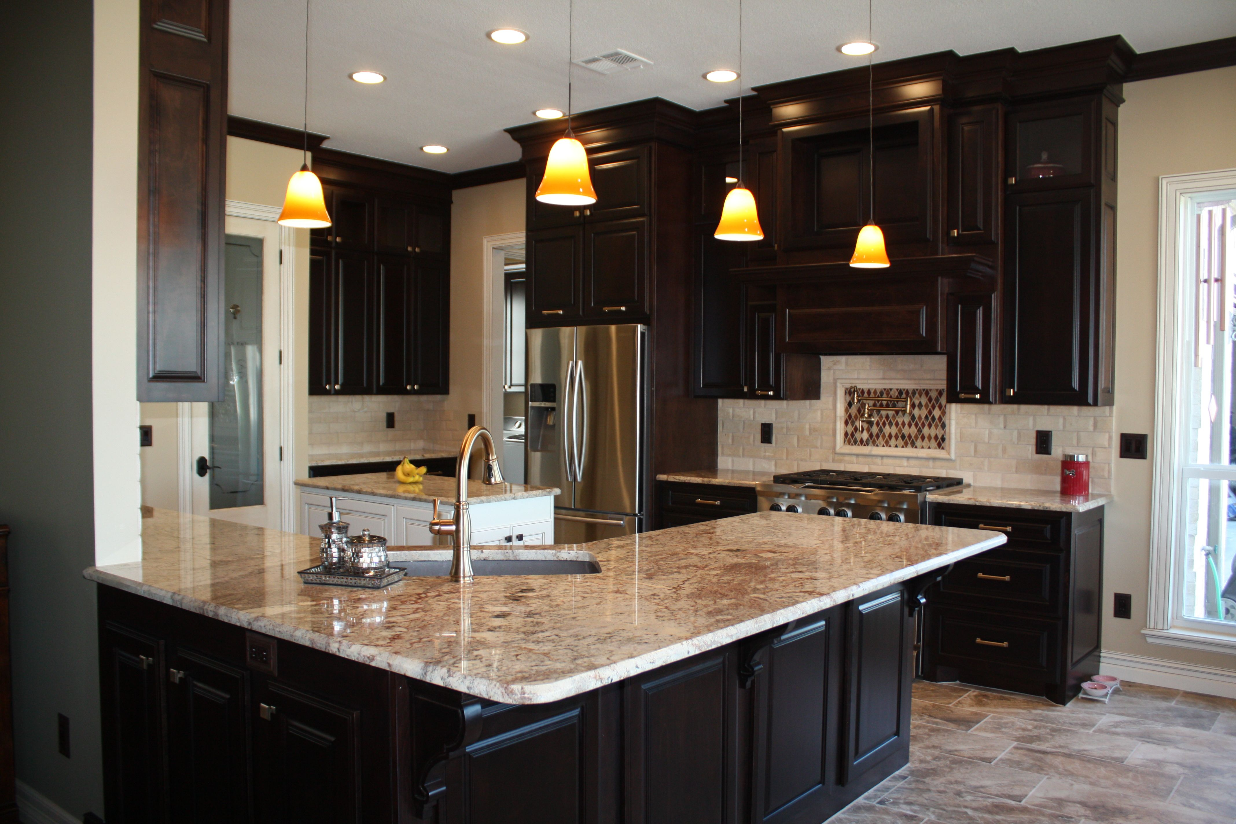 Typhoon Bordeaux Countertop From Our Tulsa Location Kitchen Designed By