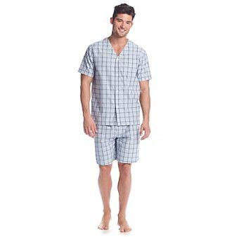 John Bartlett Statements Men's Short Sleeve Sleepshirt And Sleep Shorts Set
