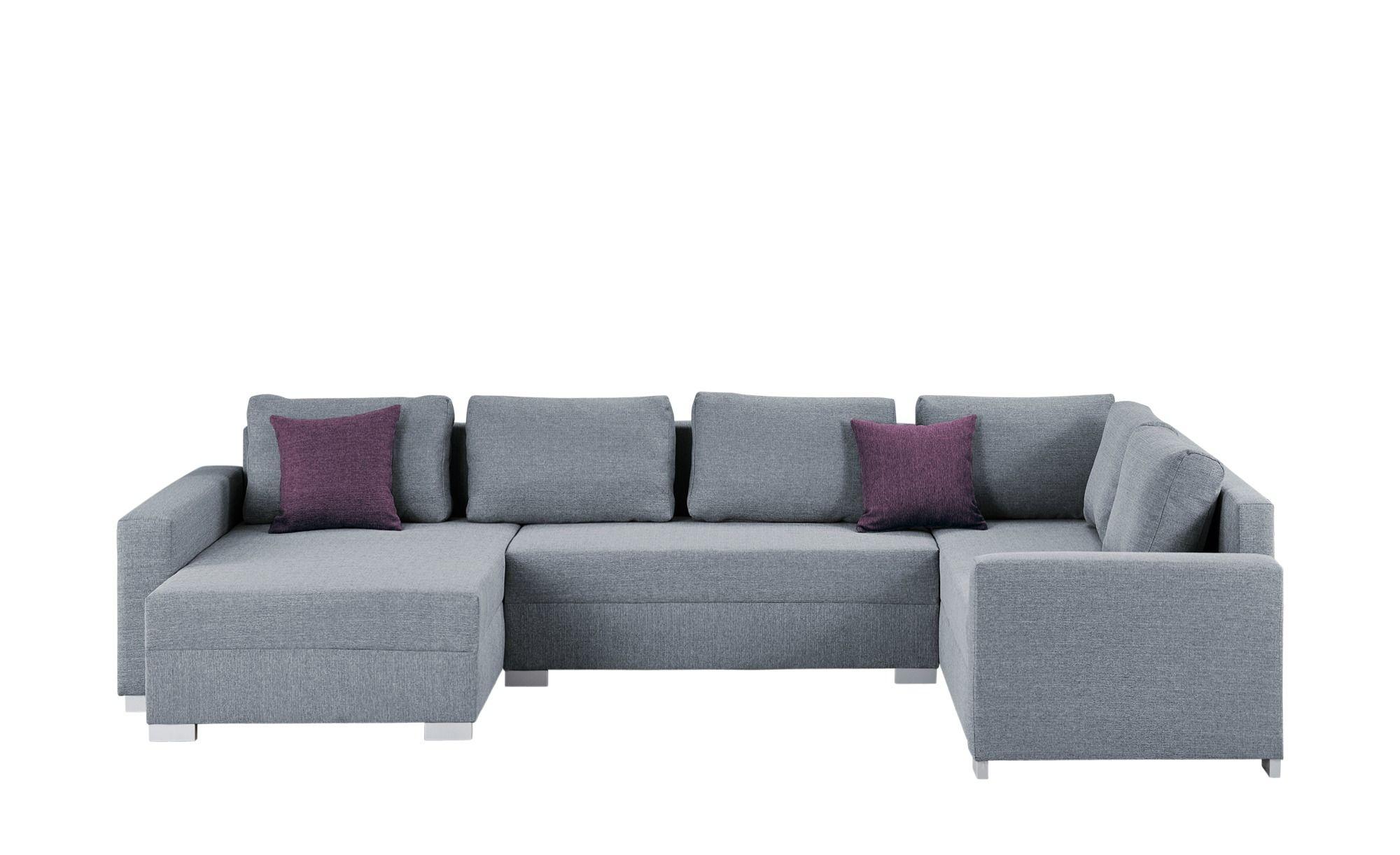 Smart Wohnlandschaft Grau Webstoff Anne Moderne Couch Sofa Wohnlandschaft Sofa Design
