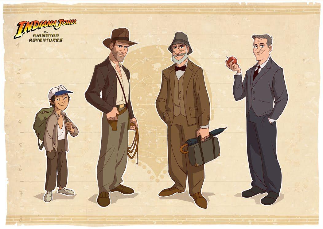 Indiana Jones animation lineup. An illustration by Patrick Schoenmaker  IndianaJonesLineUp_01.jpg (1052×744)