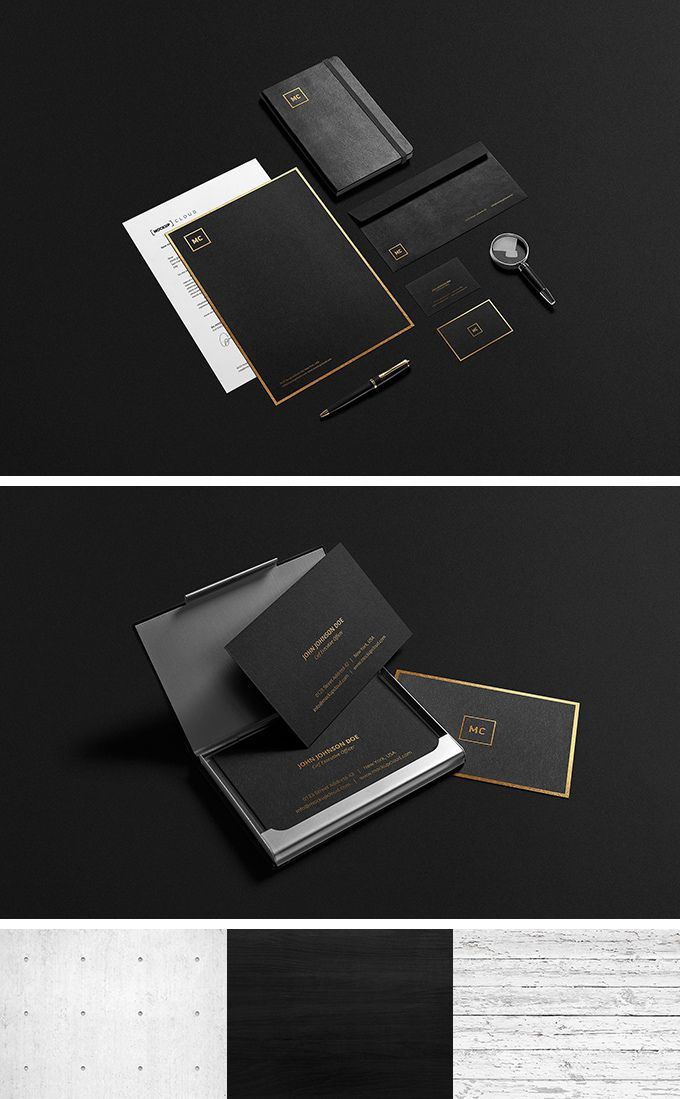 Black And Gold Stationary Mockup Fribly Branding Mockups Stationery Mockup Gold Stationery