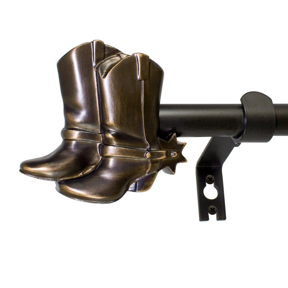 Montevilla 5 8 In Cowboy Boots Telescoping Drapery Single Rod Set