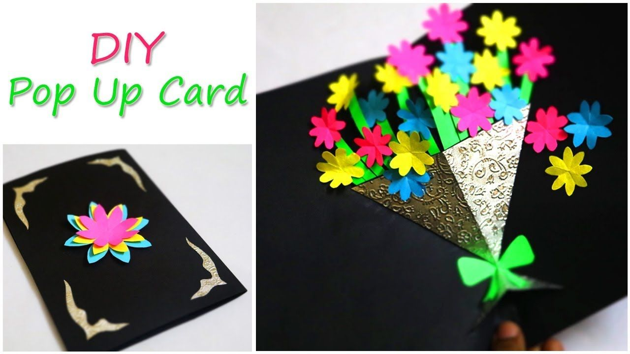 Diy greetings card flower bouquet pop up card mothers