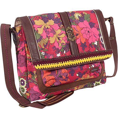 Sakroots Artist Circle Messenger Scarlet Flower Power - Sakroots Women's Messenger Bags