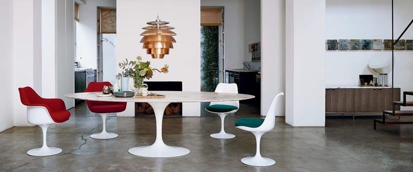Knoll Paris France Table Saarinen Tulip Chaise Platner Silvera Eshop A Retrouver Aussi Dans Nos Sho Table Saarinen Mobilier De Salon Decoration Maison
