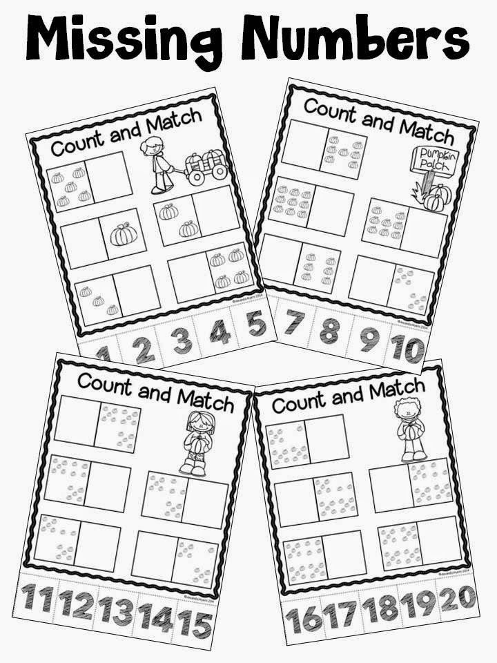 Work On Kindergarten Math Skills With This No Prep Pumpkin Math Pack