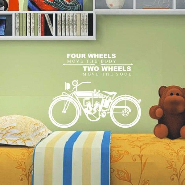 Wall Decal Quotes Motorbike | Quotes Wall Decals | Pinterest | Wall ...