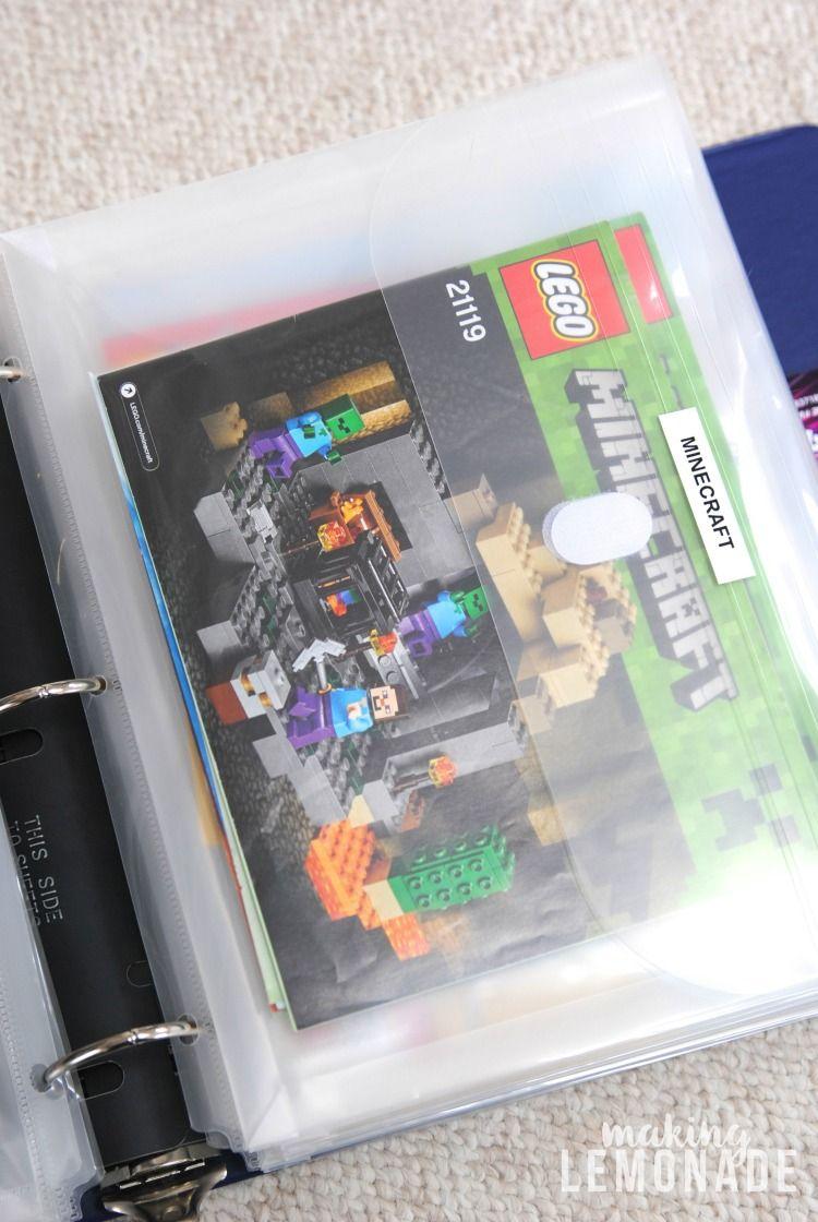 How To Organize Lego Manuals Free Lego Printables Lego Storage Organization Lego Organization Lego Storage