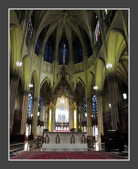 Manhattan, NYC: St. Patrick's Cathedral interior, Photographer - Mike McDermott:  https://www.facebook.com/McDermottPhotography