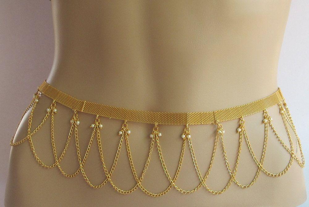 Wedding Gold Belly ChainGold Bridal BeltWaist ChainGold Waist