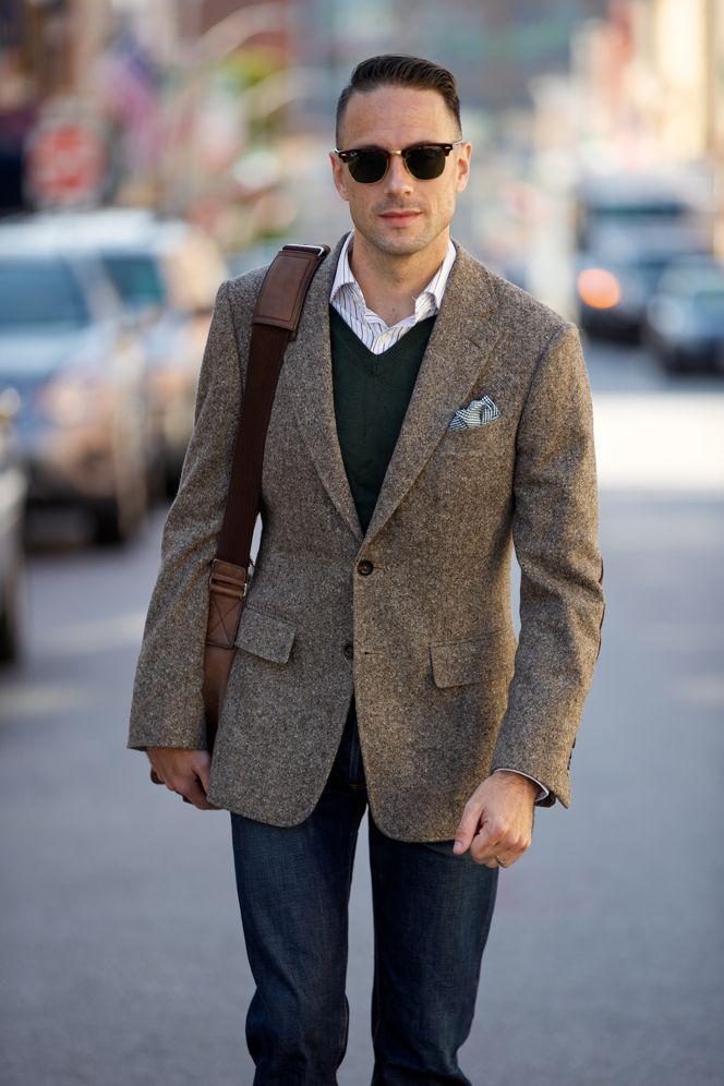 Tweed Blazer Fall Essentials | Tweed blazer, Tweed and Men's fashion