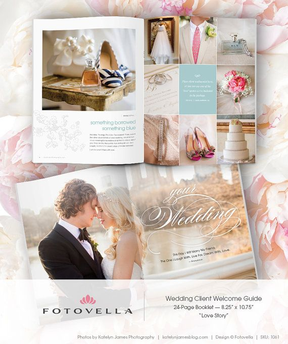 """Wedding Brochure Ideas: """"Love Story"""" Is A Magazine-style Wedding Client Welcome"""