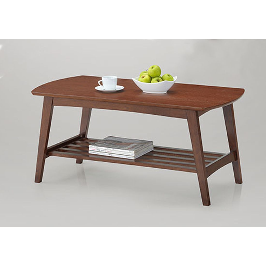 Sacramento Mid Century Modern Scandinavian Style Dark Walnut Coffee Table    Overstock Shopping   Great