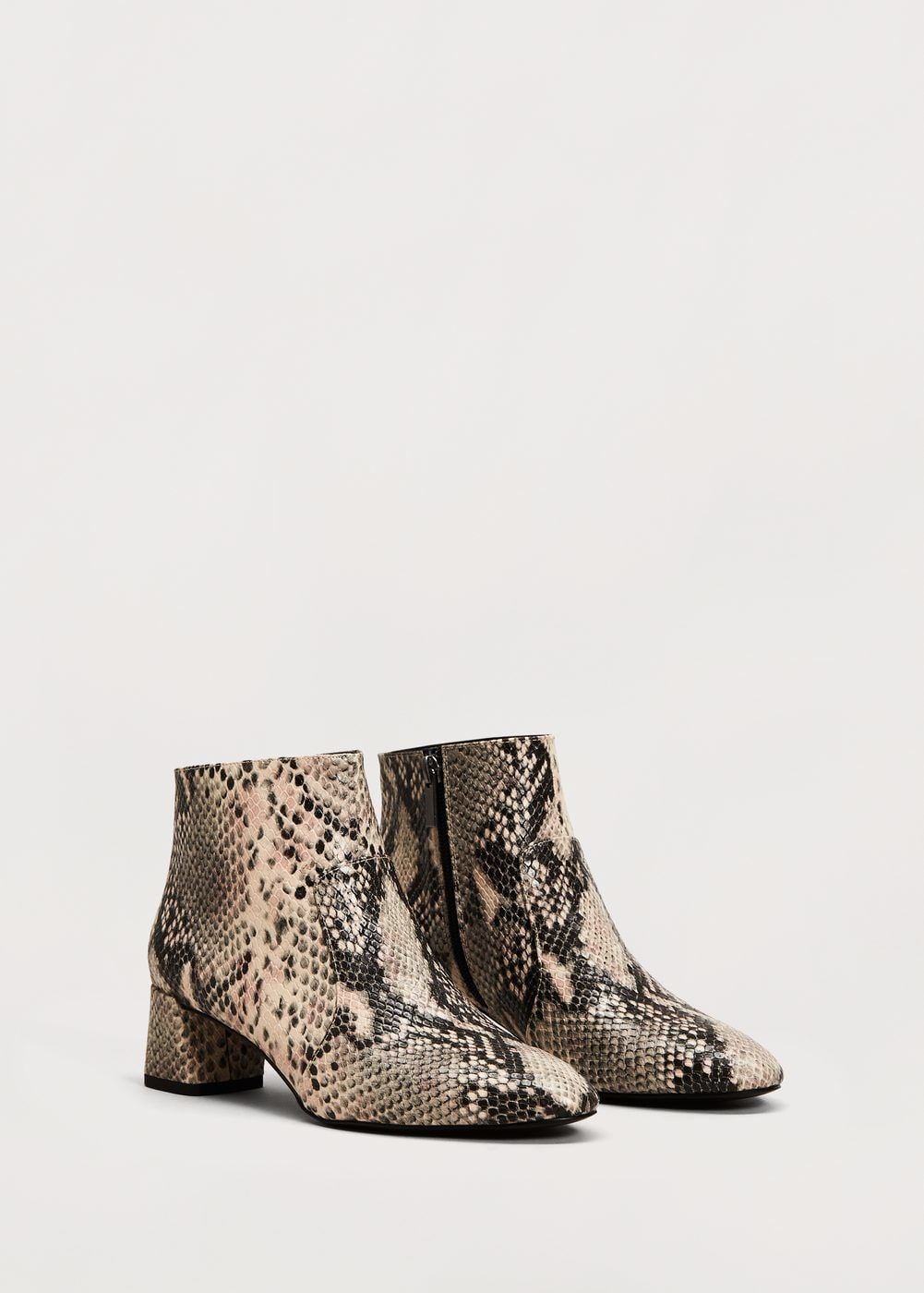 Snake-effect ankle boots - Cardigans and sweaters Plus sizes   Violeta by  MANGO USA 8a6f9257a056