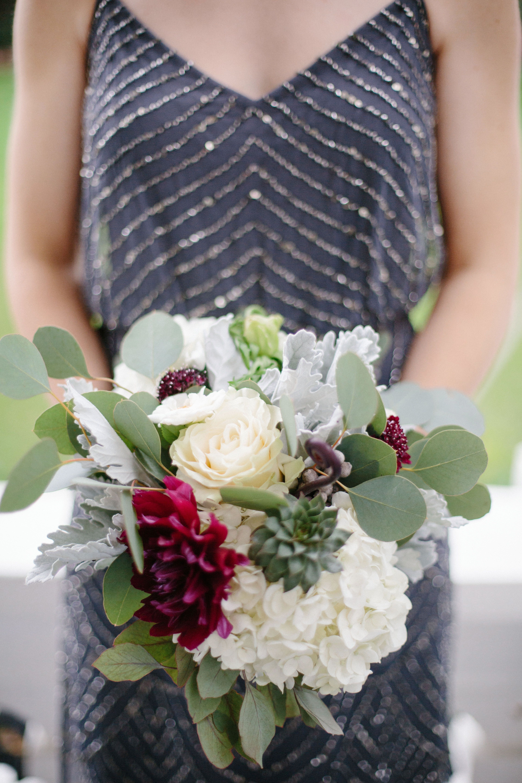 Whimsical Succulent Bouquet With Eucalyptus Romantic