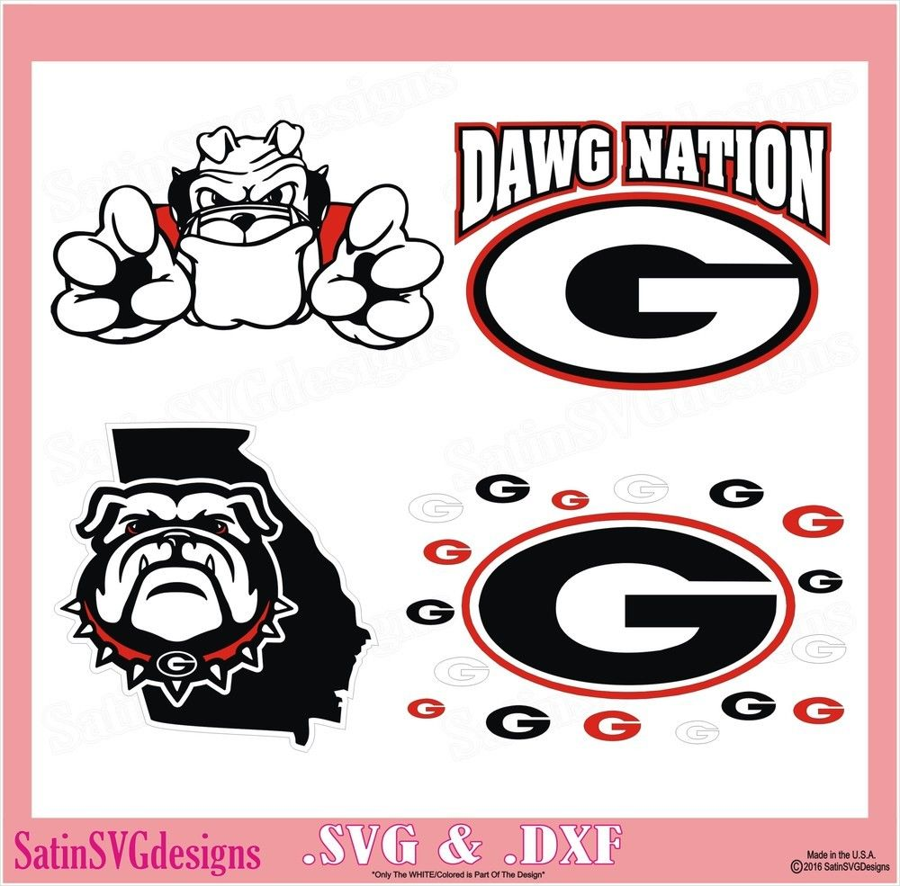Satinsvgdesigns Svg Ga Bulldogs Silhouette Projects [ 985 x 1000 Pixel ]
