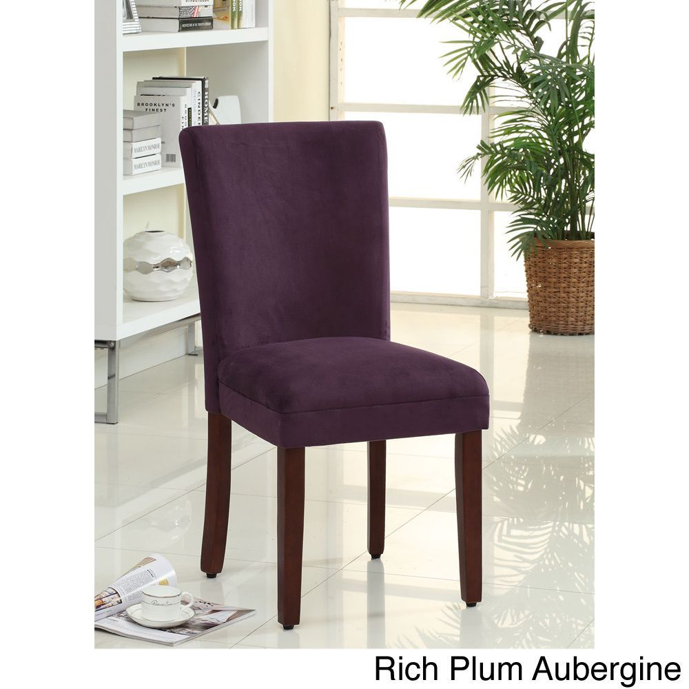 HomePop Parsons Dining Chair (Set of 2) (Rich plum