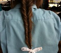 Fishtail finished with a bow <3