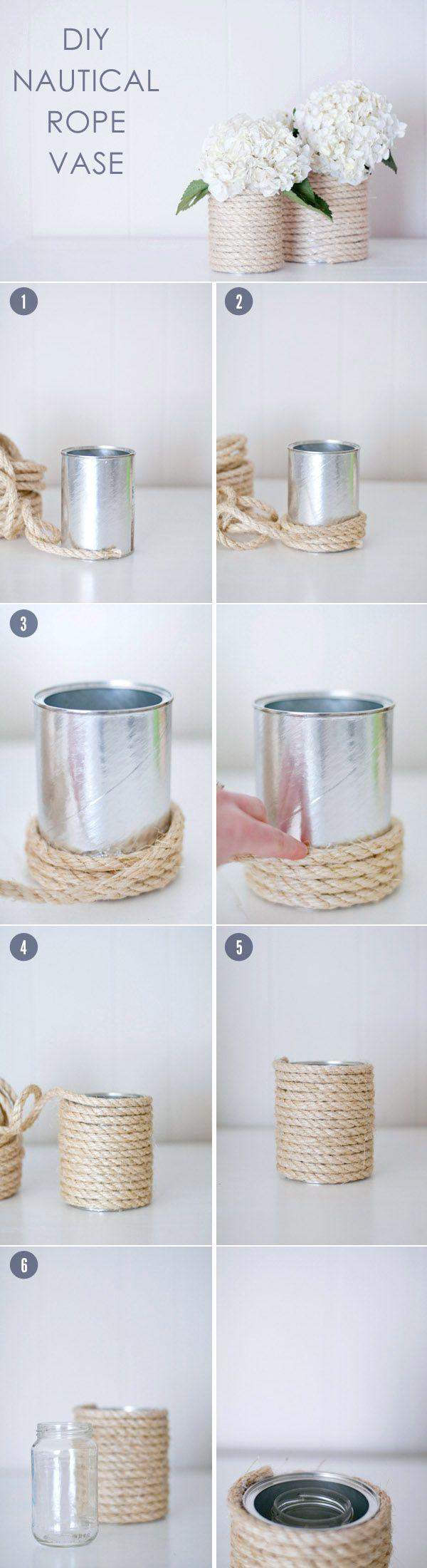 10 creative diy wedding centerpieces with tutorials juta diy wedding flowers centerpiece ideas with nautical rope vases junglespirit Choice Image
